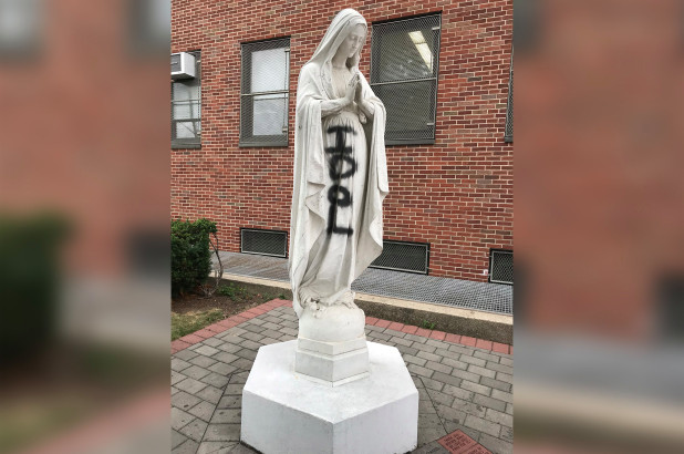 When they're going after the Virgin Mary, you know protest has turned to madness