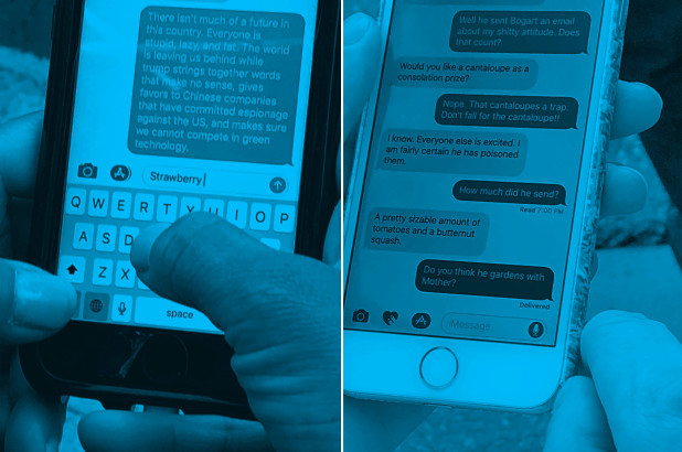 Photographer secretly captures New Yorkers' most ridiculous texts